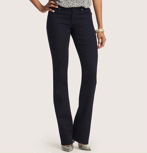 LOFT Tall Curvy Sexy Boot Jeans in Saturated Rinse Wash