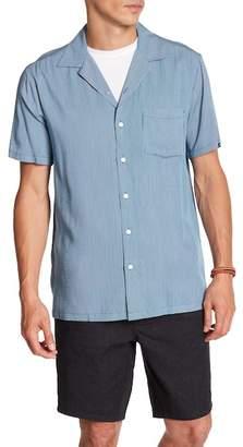 Onia East Hampton Short Sleeve Stripe Woven Regular Fit Shirt