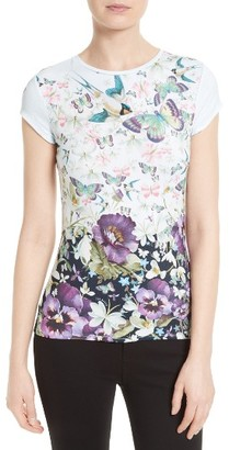 Women's Ted Baker London Jensen Floral Print Tee $79 thestylecure.com