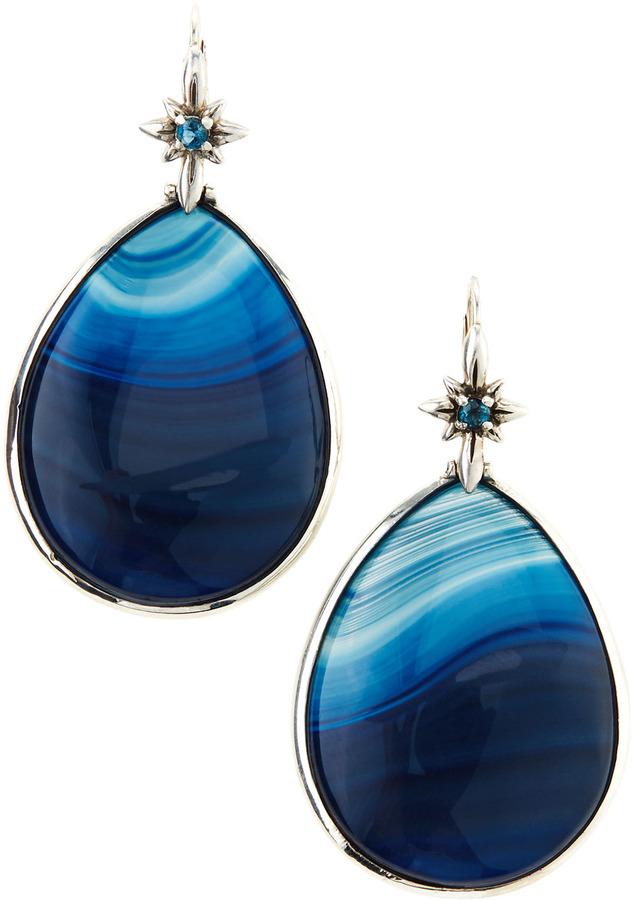 Stephen Dweck Blue Agate Teardrop Earrings