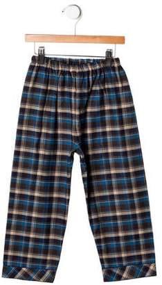 Papo d'Anjo Boys' Plaid Pajama Pants