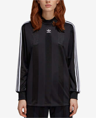 adidas Mock-Neck Long-Sleeve T-Shirt