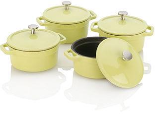 Fagor Michelle B by Mini Dutch Oven Set, .25 Qt. Lemon Lime Set of 4