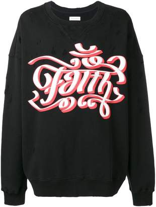 Faith Connexion oversized sweatshirt