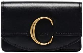 Chloé Black leather C wallet
