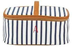 Cathy's Concepts Travel 2018 Personalized Striped Cosmetic Case