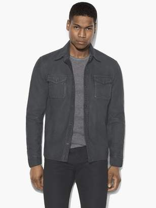 John Varvatos Leather Shirt Jacket
