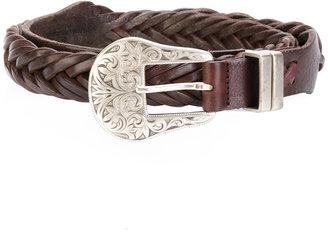 Texas buckled woven belt