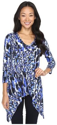 Karen Kane - 3/4 Sleeve Handkerchief Tunic Women's Blouse $108 thestylecure.com