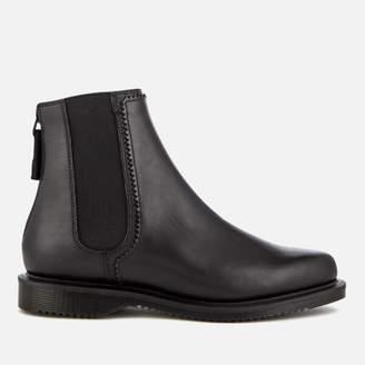 Dr. Martens Women's Zillow Temperley Leather Zip Back Chelsea Boots - Black