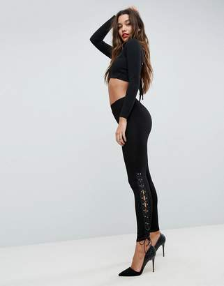 Asos (エイソス) - Asos Design ASOS Leggings with Lace Up Sides