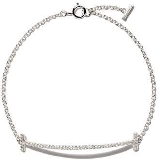 Tiffany & Co. & Co 18kt white gold T smile diamond bracelet
