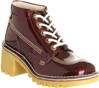 Kickers Kopey Hi Dark Red Patent Leather