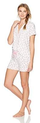 The Slumber Project Women's Shorty Short Sleeve Pajama Set