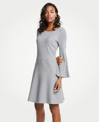 Ann Taylor Pleated Flare Sleeve Sweater Dress