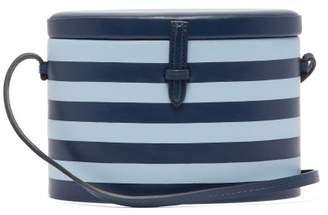 Hunting Season - Trunk Striped Leather Shoulder Bag - Womens - Blue Multi