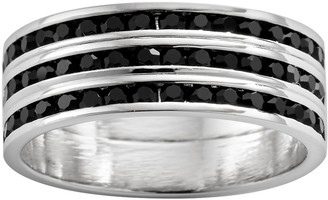 Swarovski Traditions Sterling Silver Crystal Eternity Ring
