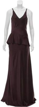 Narciso Rodriguez Ruffled Satin Gown