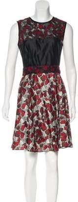 Rodarte Printed Silk Dress