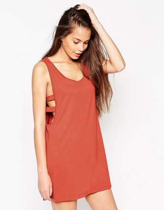 Asos Design Drop Arm Hole Dress with Side Tabs