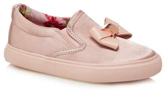 Ted Baker 'Girls' Pink Satin Slip-On Trainers