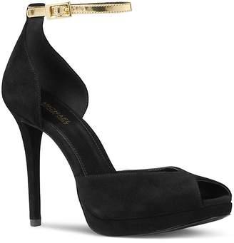 MICHAEL Michael Kors Women's Tiegan Suede High Heel Sandals