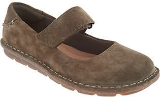 Clarks Suede Mary Janes - Tamitha Aster