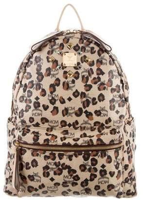 MCM Animal Print Studded Large Backpack