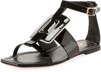 Roger Vivier Viv Sellier Patent Flat Sandal