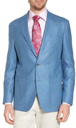 David Donahue Aiden Classic Fit Silk & Wool Blazer
