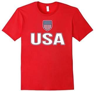 USA White Blue T-shirt American Flag U.S.A Stars Stripes