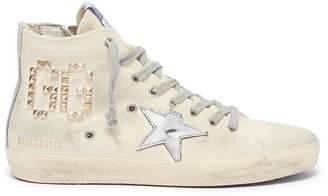 Golden Goose 'Francy' stud logo canvas high top sneakers
