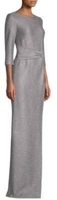 St. John Sequin-Knit Twist Gown