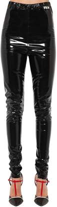 MSGM Stretch Vinyl Leggings