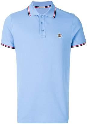 Moncler tipped logo polo shirt
