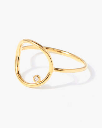 7 For All Mankind Open Circle Ring in Gold