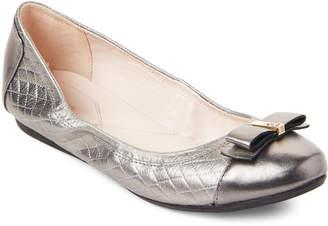 Cole Haan Gunmetal Elsie Metallic Ballet Flats