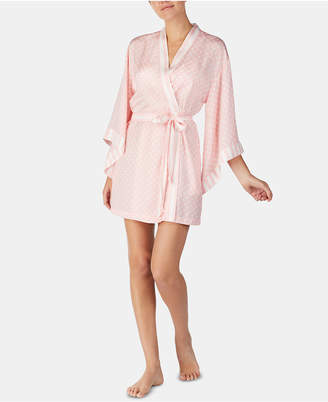Betsey Johnson Kimono-Sleeve Printed Wrap Robe