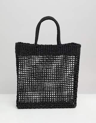 South Beach Woven Straw Shopper Bag