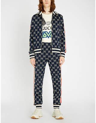 Gucci Logo-intarsia stretch-jersey jacket