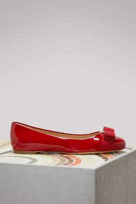 Salvatore Ferragamo Varina Patent Leather Flats