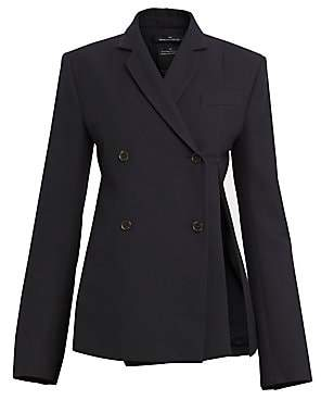 Rokh Women's Distorted Double-Breasted Blazer
