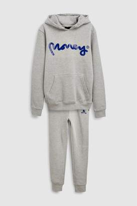Next Boys Money Black Label Hoody And Jogger Set