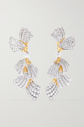 Buccellati 18-karat White And Yellow Gold Diamond Earrings - one size