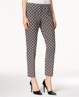 Nine West Printed Straight-Leg Ankle Pants $89 thestylecure.com