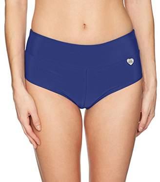 Body Glove Women's Smoothies Sweety Solid Cheeky Bikini Bottom Swimsuit