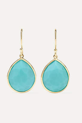 Ippolita Rock Candy 18-karat Gold Turquoise Earrings
