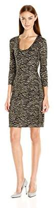 Just Cavalli Women's Zebra Vibe Print Scoop Neck Dress
