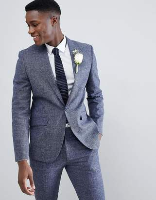 Farah Smart Skinny Suit Jacket In Twisted Yarn