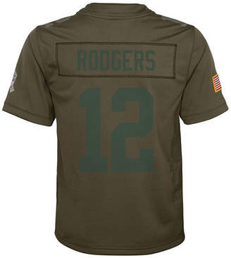Nike Aaron Rodgers Green Bay Packers Salute To Service Jersey, Big Boys (8-20)